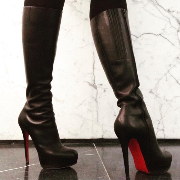 on sale dd97e 25d60 spain christian louboutin thigh high boots xl ba5b0 ef7d8